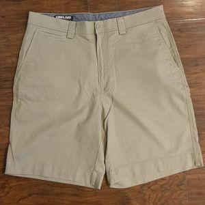 Kirkland Mens Tan Flat Front Shorts Sz 34 nwot